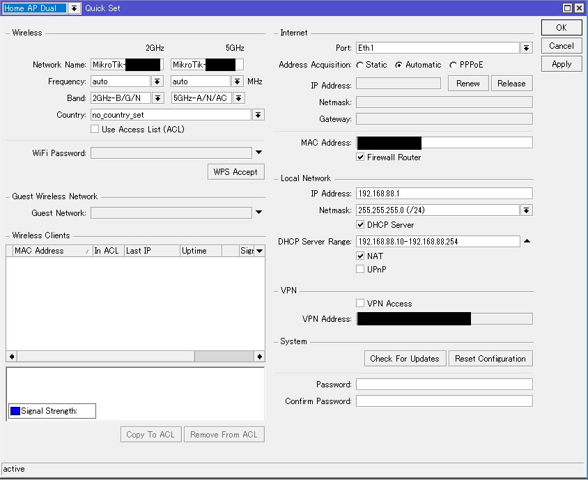 Winboxの設定項目(hAP ac)を一気に確認 | fefcc net